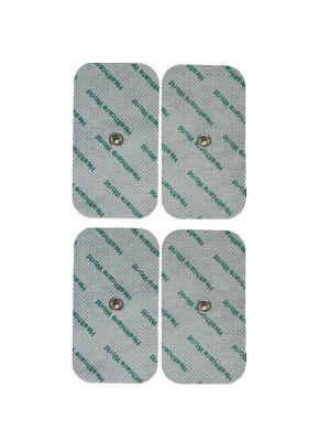 Healthcare World® Set of 4 Large Reusable Stud Tens Electrode Pads