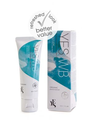 YES® WB Water Based Personal Lubricant Re-hydrating Lubricant Made With Organic Ingredients 50ml Tube